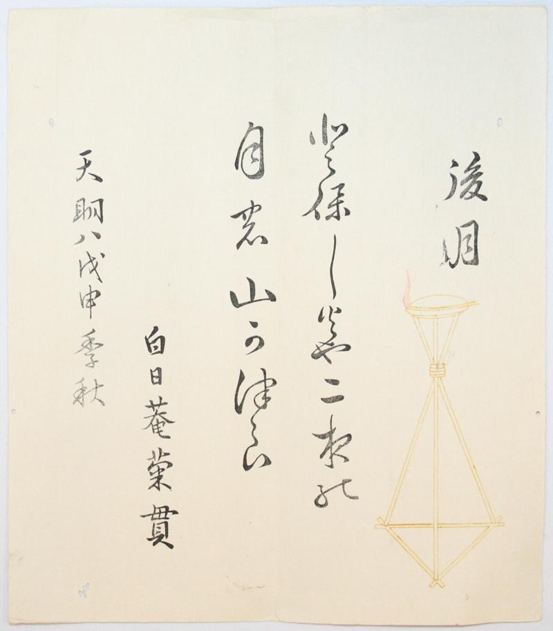 「後月摺物」天明8年(1789)